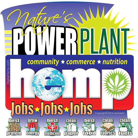 Hemp Nature's Power Plant emblem